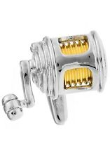 Fishing Reel Cufflinks 2 Tone Fisherman Wedding Fancy Gift Box Free Ship USA