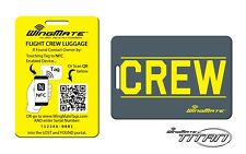 NFC Passive Tracking Luggage Tag by WingMate! Airline Flight Crew Tag. YELLOW