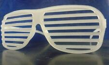 Plastic Glow In The Dark Shutter Shades Party Goody Bag Filler Costume Halloween