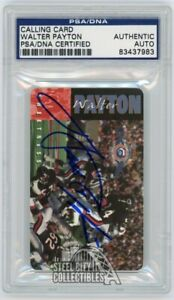 Walter Payton Autographed Calling Card - PSA/DNA (Blue Ink)