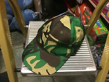 Kids Green Camouflage Baseball Cap Childrens Boys Cotton Army Combat Camo Hat