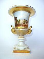 Seltene Porzellanvase Urne Vase Handmalerei um 1820 Das Potsdamer Thor Berlin
