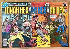 VINTAGE JONAH HEX #21 22 23 DC COMICS WESTERN 1ST SOLO SERIES MID-HIGH GRADE!!!