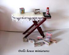 Asse da stiro e Accessori in Miniatura Dollshouse