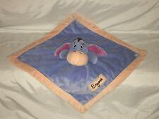 Disney Baby Winnie The Pooh Eeyore Kidsline Security Blanket Lovey Blue Peach