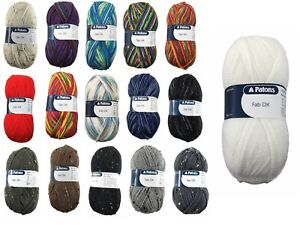 Patons DK Fab: Double Knitting Yarn / Wool 100G 16 Colours Available