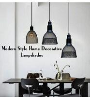Industrial Retro Iron Net Wire Bulb Lamp Guard Metal Lampshade Lighting Parts UK