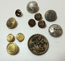 Lot of 12 Metal Vintage Buttons Picture Lion Indian Head Crown Eincetracer