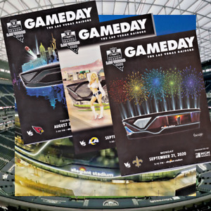 Las Vegas Raiders 2020 Inaugural Season Gameday Magazine/Programs