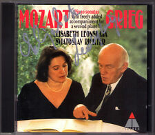 Elisabeth LEONSKAJA Signiert MOZART arr. GRIEG Sonata Sviatoslav RICHTER CD