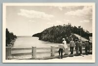 Orr's Island Bridge RPPC Vintage Maine Photo—Fishing—Casco Bay ca. 1940S