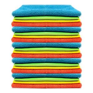 20pk Microfiber Cleaning Cloth   Super Absorbent & Lint Free Microfibre Cloth