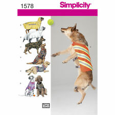 SIMPLICITY SEWING PATTERN 1578 - LARGE SIZED DOG CLOTHING
