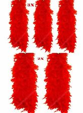 New 5x Red Feather Boa Burlesque Hen Night Halloween Showgirl Wholesale Job Lot