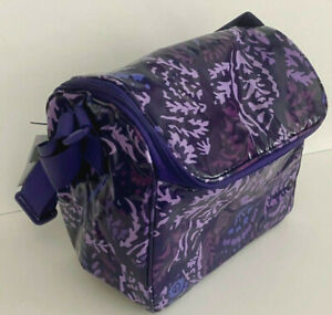 NWT VERA BRADLEY STAY COOLER LUNCH BAG PAISLEY AMETHYST INSULATED BRAND NEW