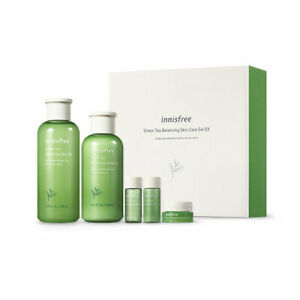 [Innisfree] Green Tea Balancing Skin Care Set EX (Skin + Lotion + 3Gifts)