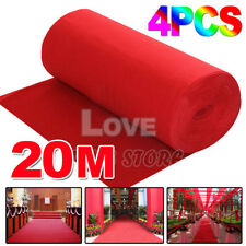 4x 5*1m Red Carpet Wedding Party Decoration Runner Hollywood Awards Night Casino