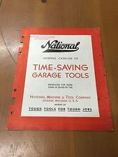 30 40 's National Garage Tools Equipment Sales Catalog Guide Book