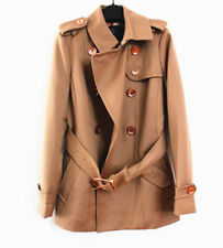 New Burberry $1295 Brit Wool Blend Short Trench Coat,