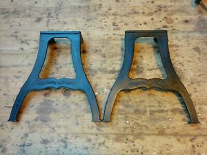 Industrial cast iron table legs