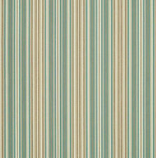 Sunbrella Outdoor Striped Upholstery Fabric Gavin Mist Green Tan 56052-0000