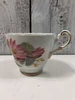 Vintage Royal Vale Pink Floral Bone China Teacup Made In England CUP ONLY