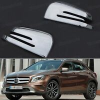 2pcs Chrome Rearview Side Mirror Cover Trim Fit for Mercedes Benz GLA 2015-2017
