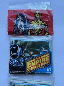 Topps The Empire Strikes Back rack 3 pack unopened 51 cards Star Wars 1980