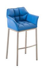 Chaises contemporains bleus en acier pour la maison