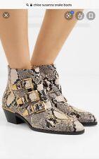 Chloe Susanna Python Learher Ankle Boots,39