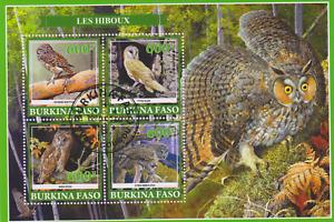 Owls Burkina Faso Postmarked 2931