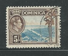 DOMINICA # 109 Used KING GEORGE VI, LAYOU RIVER