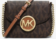 New Authentic Michael Kors Fulton Small Crossbody Shoulder Bag Purse - brown