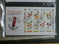 GUERNSEY 1995 GREETINGS 8 STAMP MINI SHEET FDC FIRST DAY COVER