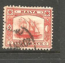 MALTA  1899-01  5d  PICTORIAL  FU  SG 33