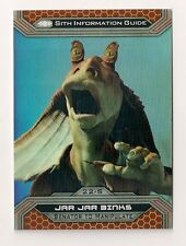 2015 TOPPS STAR WARS CHROME #22-S JAR JAR BINKS #/50 GOLD REFRACTOR #41/50
