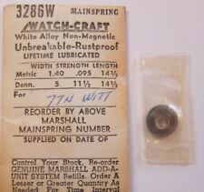NOS WITTNAUER 7TN WHITE ALLOY MAINSPRING WATCH PART