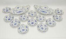Lindner Küps, 2 x Gebäckschale, 12 x Tellerchen, Alte Ranke Blau,