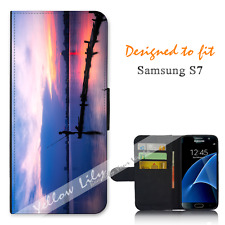Samsung Galaxy S7 Wallet Flip Phone Case Cover Live for Fishing Y00973