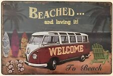 RETRO METAL WALL SIGN TIN PLAQUE VINTAGE T1 BAY V-DUB GARAGE VW CAMPER SPLITTY