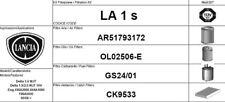 LA1S KIT 4 FILTRI TAGLIANDO LANCIA DELTA III 1.6 MJT 88 KW 120 CV
