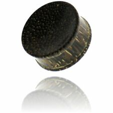 """PAIR OF 5/8"""" INCH 16MM CONCAVE PALM WOOD PLUGS ORGANIC PLUG"""