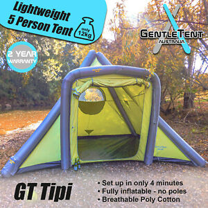 GentleTent GT Tipi inflatable 5 person lightweight camping tent