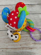 Sassy Loop Ball Baby Kids Children Activity Rattle Jingle Clanking Soft Hang Toy