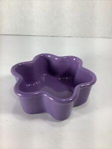 Chantal Lavender Star Shaped Baking Dish 1 Cup Oven Freezer Microwave Safe NWOT