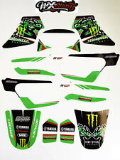 Stickers Kit deco Monster Green Aligator pour moto  Yamaha PW50 PW 50