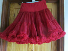 Beautiful red Square Dance, Jive Rock &Roll, Gothic. 60's style Petticoat Med