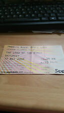 The Lord of the rings Theatre used ticket 17th May 2008