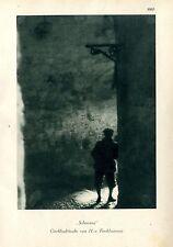 """""""Schmiere""""  Grossstadtstudie von H.v.Perckhammer c.1930"""