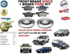 FOR VOLVO XC70 CROSS COUNTRY 2.4 2.5 T D5 FRONT BRAKE DISCS SET + DISC PADS KIT